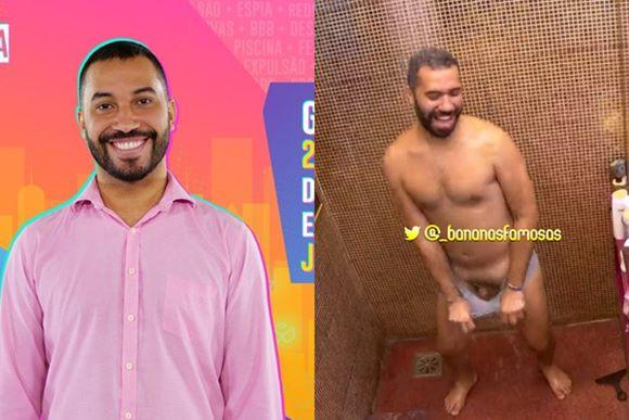 Gilberto do BBB21 mostra o pênis ao vestir a cueca