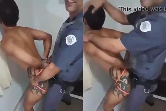 Policial militar fodendo o cu do viado