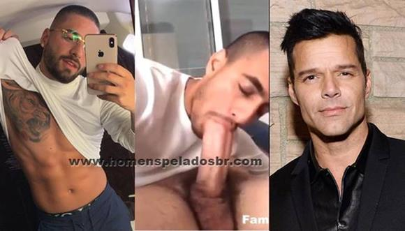 Maluma fazendo boquete em Ricky Martin, Será?
