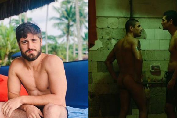 Fotos do ator Daniel Rocha pelado mostrando a bunda