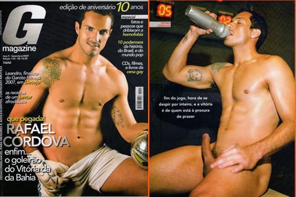 Fotos do goleiro Rafael Córdova nu na G Magazine