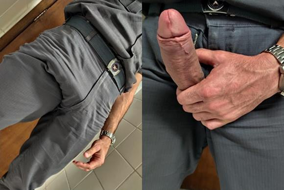 Fotos de policiais nus e mostrando seus pênis