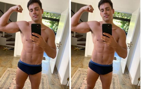 Cauã Reymond exibe corpo sarado no Instagram