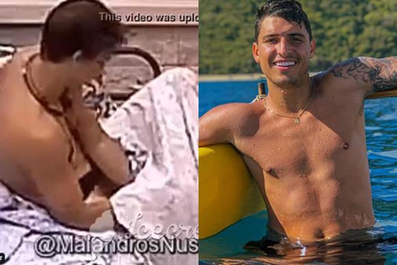 Felipe Prior pelado mostrando o pênis no BBB