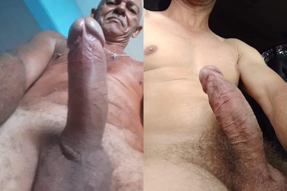 Diversas fotos de homens coroas pelados mostrando suas rolas e que ainda estão mais gostosos que certos novinhos.