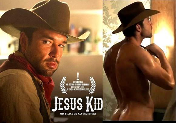 """Sérgio Marone pelado em cena de filme """"Jesus Kid"""""""